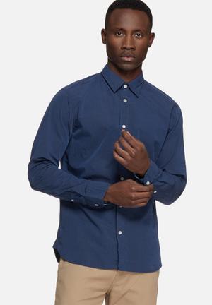 Selected Homme Filson Slim Shirt  Blue