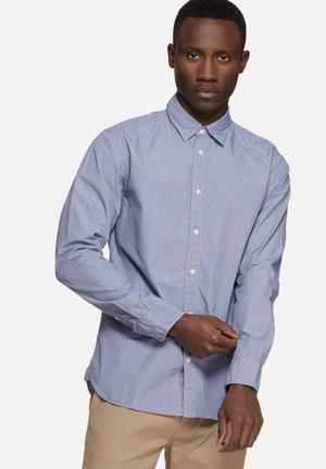 Selected Homme Filson Slim Shirt Blue