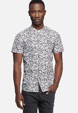 Sergeant Pepper Paint Splatter Shirt Black & White