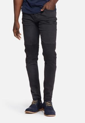 Sergeant Pepper Trench Skinny Denims Jeans Black