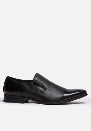 Franco Gemelli Mr Slate Slip On Formal Shoes Black