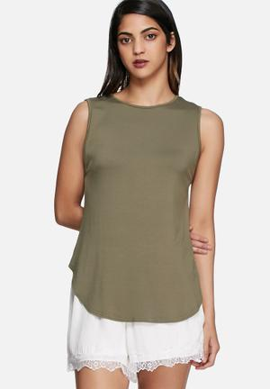 Dailyfriday Drop Tank T-Shirts, Vests & Camis Khaki