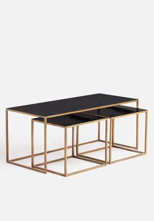 Sixth Floor Coffee Table Set Of 3 Iron