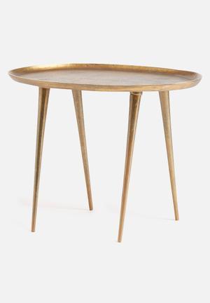Sixth Floor Small Oval Side Table Aluminium