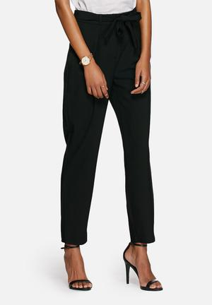 ONLY Jupiter Bow Ankle Pants Trousers Black