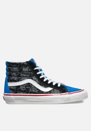 Vans SK8-HI 38 Reissue Sneakers Multi Print / Red / Blue / Black