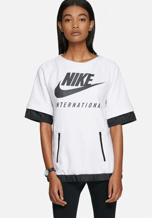 Nike Nike International Sweat Top T-Shirts Black / White