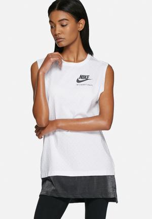 Nike Nike International Tank Top T-Shirts White / Black