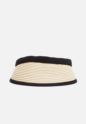 ONLY Emi Straw Cap Headwear Black & Natural