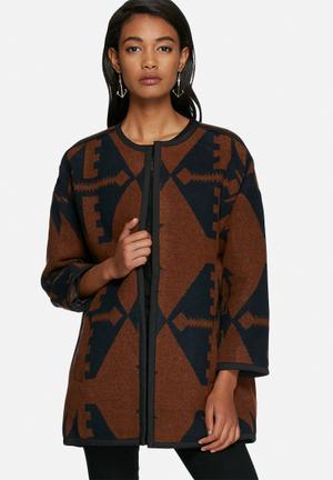 Vero Moda Azina Jacket Brown & Black