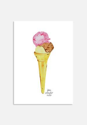 Gina Maher Ice Cream Cone Art