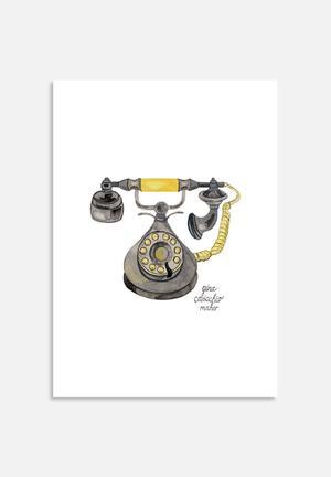 Gina Maher Rotary Phone Art