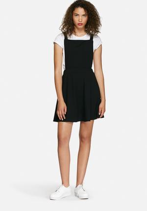 Dailyfriday Crepe Pinafore Dress Casual Black
