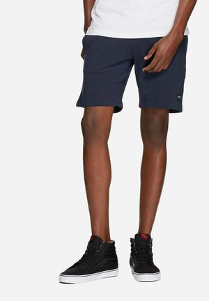Only & Sons Slub Sweat Shorts Navy