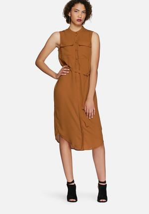 Vero Moda Justina Dress Formal Tan