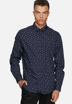 Ben Sherman Paisley Shirt Navy