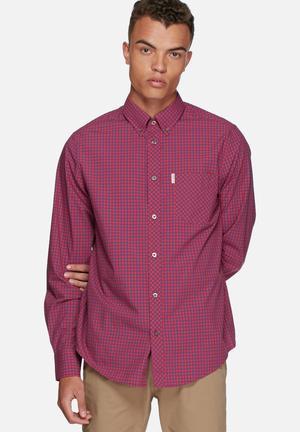 Ben Sherman Gingham Shirt Red / Blue