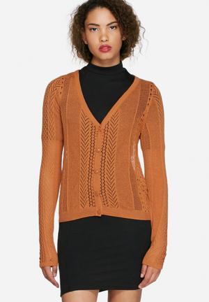 Vero Moda Sophie Cardigan Knitwear Tan