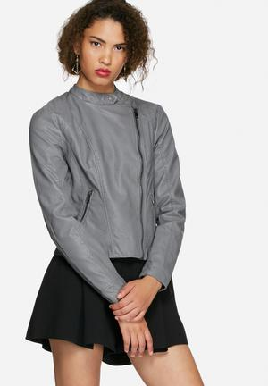 Vero Moda Miley  PU Jacket Grey