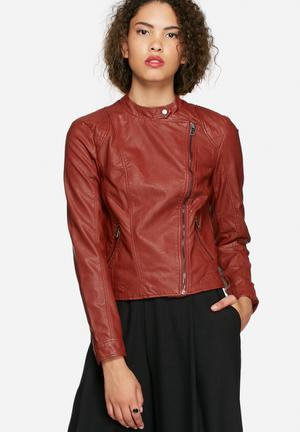 Vero Moda Miley PU Jacket Red