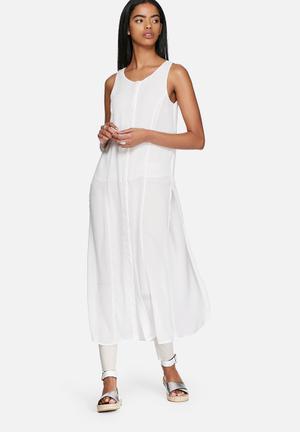 ONLY Lotin Long Shirt White