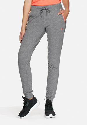 ONLY Play Rosa Sweat Pants Bottoms Grey & Coral