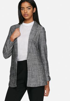 ONLY Must Linen Blazer Jackets Grey / Black