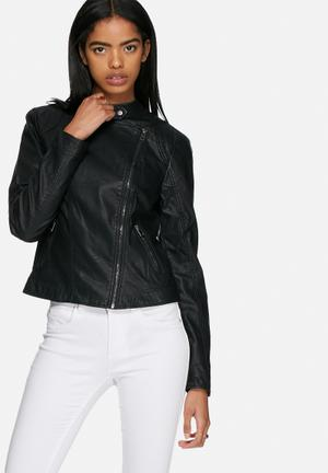 Vero Moda Miley Short PU Jacket Black