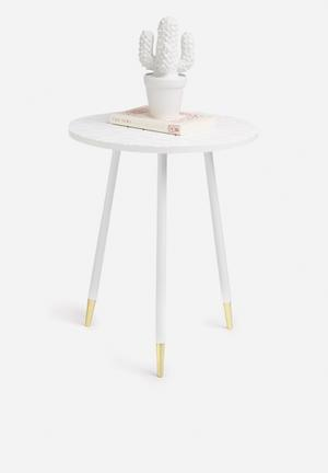 Present Time Mellow Side Table Metal & MDF