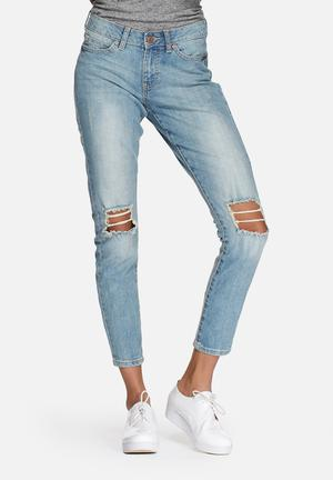 Noisy May Lucy Super Slim Jeans Blue