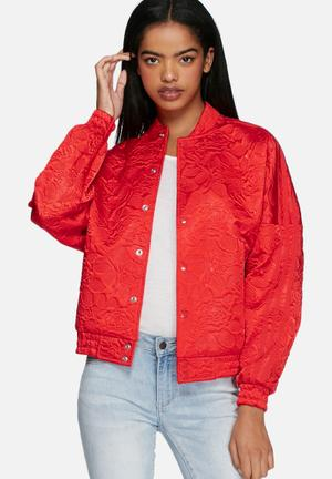 Adidas Originals Young, Wild And Free Bomber Hoodies & Jackets Red