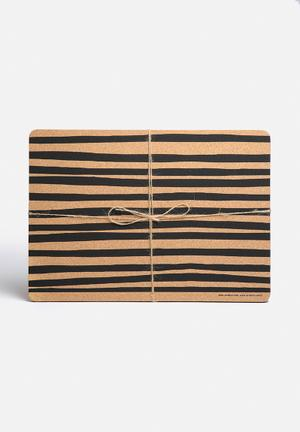 Love Milo Stripe Placemat Set Of 2 Dining & Napery Made From Recycled Wine Corks