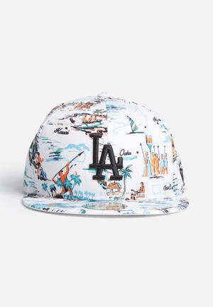 New Era 59 Fifty LA Dodgers Headwear White / Multi