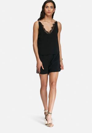Vero Moda Iva Playsuit Black