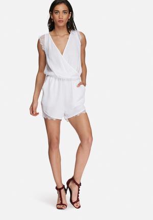 Vero Moda Dona Playsuit White