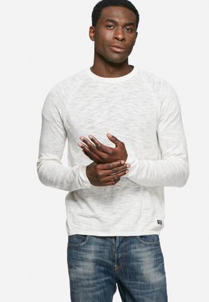 PRODUKT Slub Crewneck Knitwear White