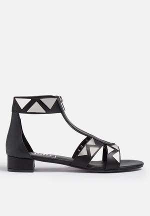 E8 By Miista Jessie Sandals & Flip Flops Black & Silver