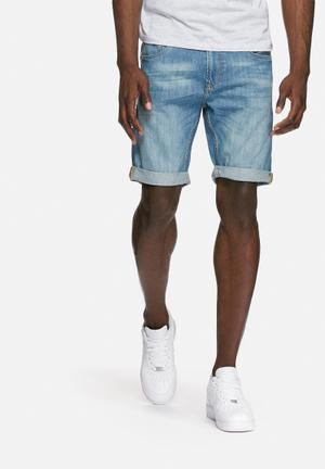 PRODUKT Denim Shorts Blue