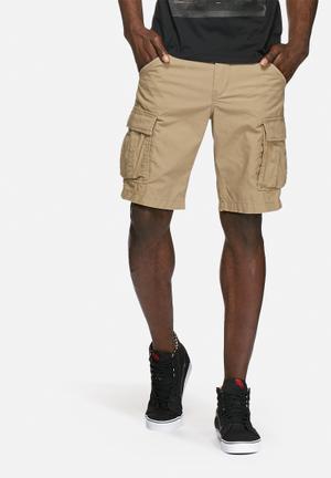 PRODUKT Seven Cargo Shorts Khaki Brown