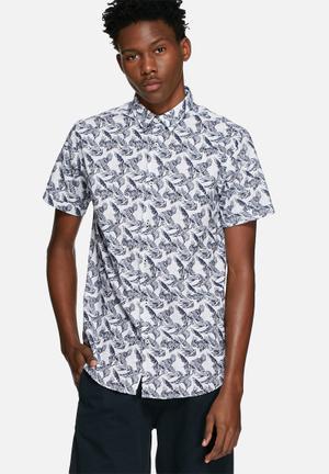 Jack & Jones Premium Tucker Slim Shirt White & Navy