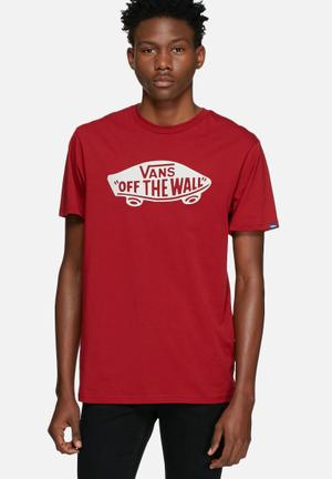 Vans Off The Wall Tee T-Shirts & Vests Red