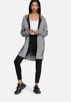 Nike Tech Fleece Cocoon Mesh T-Shirts Grey Melange