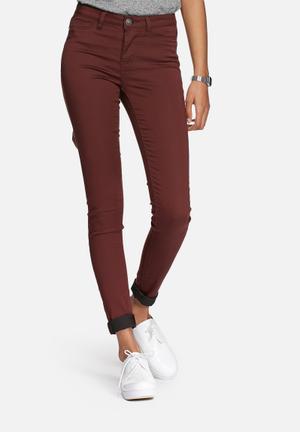 Vero Moda Flex-it Jegging Trousers Burgundy