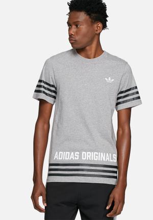 Adidas Originals Street Group Tee T-Shirts Grey & Black