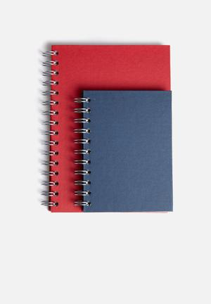 MatchBOX Lined Notebook A5 & A6 Set Gifting & Stationery Recycled Fibreboard & Paper
