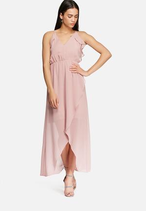 Glamorous Flounce Frill Dress Occasion Pink