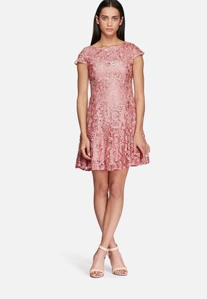 Glamorous Lace Mini Dress Occasion Pink