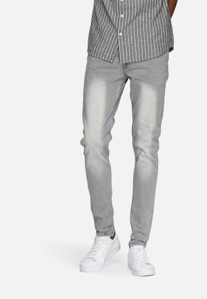 Sergeant Pepper Trench Skinny Denims Jeans Grey
