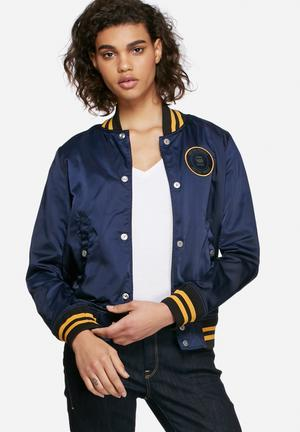 G-Star RAW Sports Bomber Jackets Navy & Yellow
