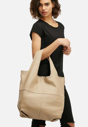 FSP Collection Maaia Leather Tote Bags & Purses Beige